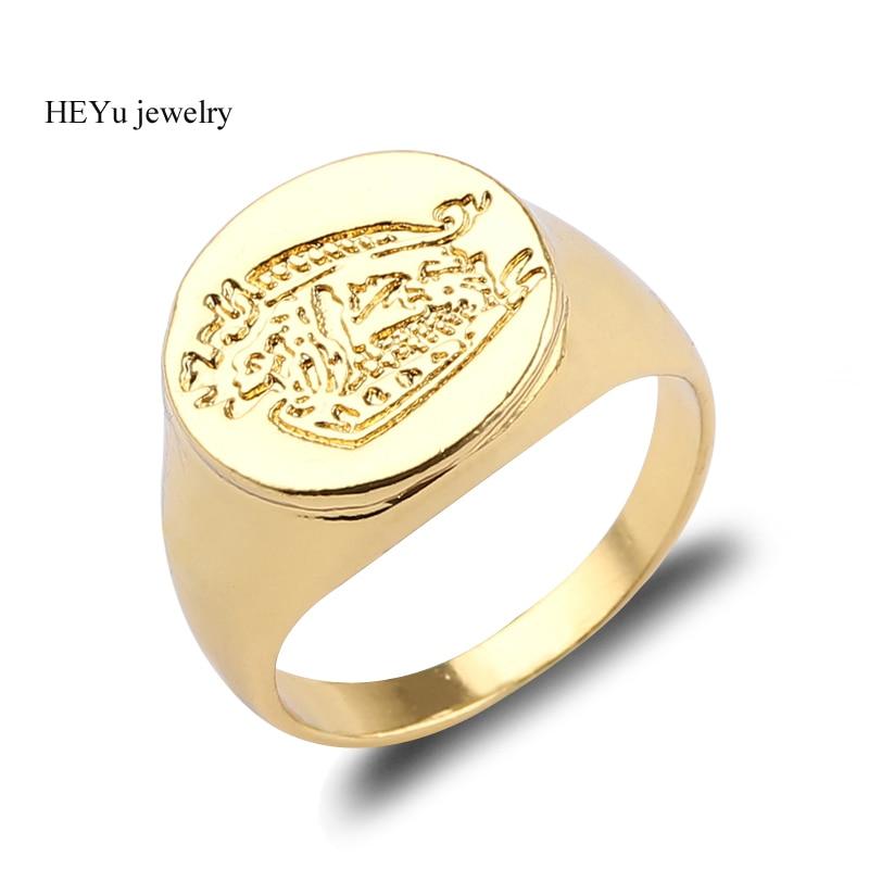 Gold Color Kingsman Rings The Secret Service Custom Signet R