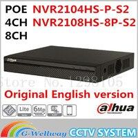 Dahua Original Englsih Version NVR PoE 4CH 8CH NVR2104HS P S2 NVR2108HS 8P S2 Up To