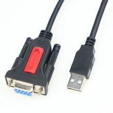 Adaptador usb para rs232 com chipset pl2303, usb 2.0 macho para rs232 fêmea db9, cabo conversor serial 1.5m de suporte windows 10 mac os