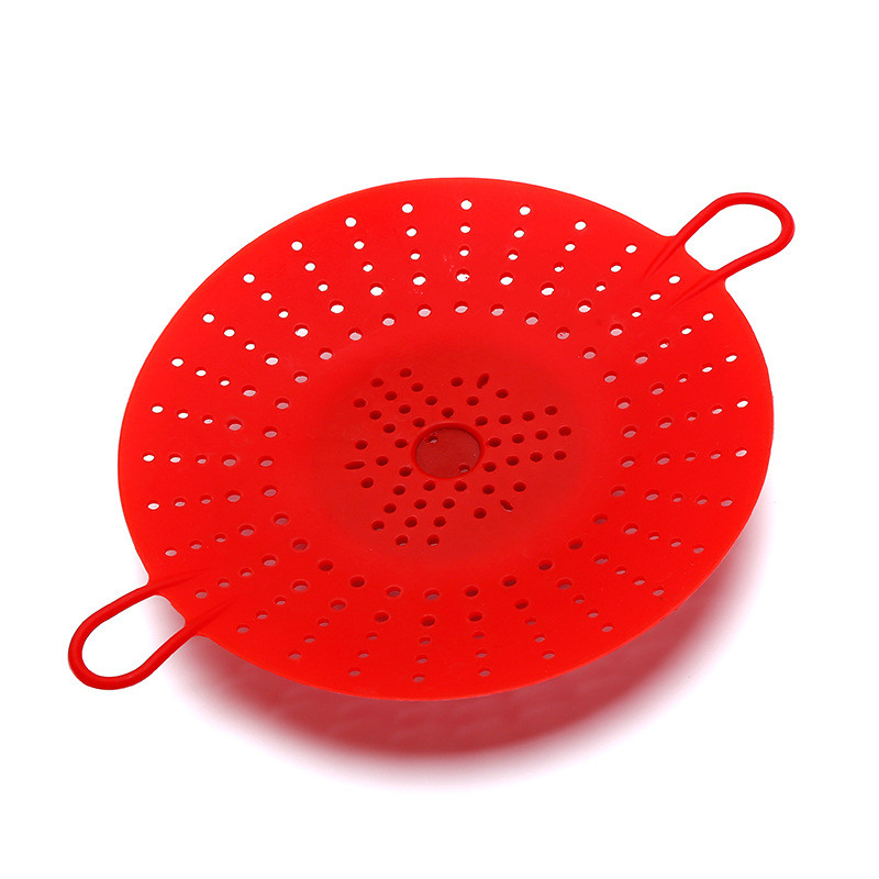 Portable High Temperature Creative Silicone Steaming Basket Collapsible Steamer Safety Silicone Steamer Kitchen Supplies