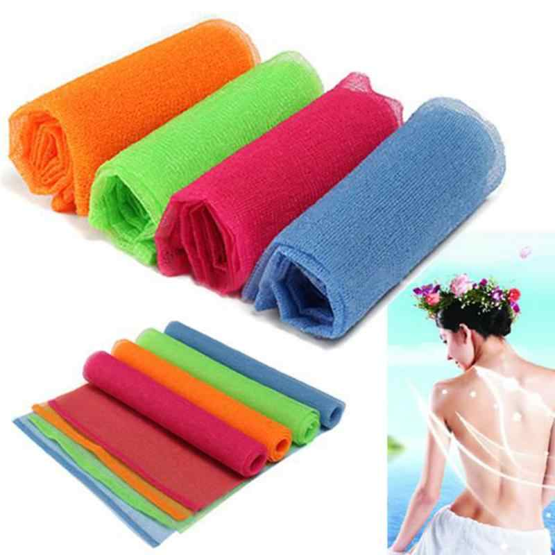 High Quality Nylon Mesh Bath Shower Body Washing Clean Exfoliate Puff Scrubbing Towel Cloth Bath Exfoliating Nylon Wash Cloth