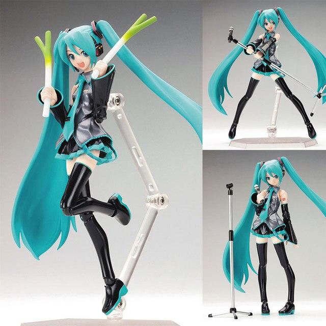 15cm Anime idol Hatsune Miku Action Figure Popular Movable Virtual Singer PVC Figma 014 Collectible Model Toys Birthday Gift