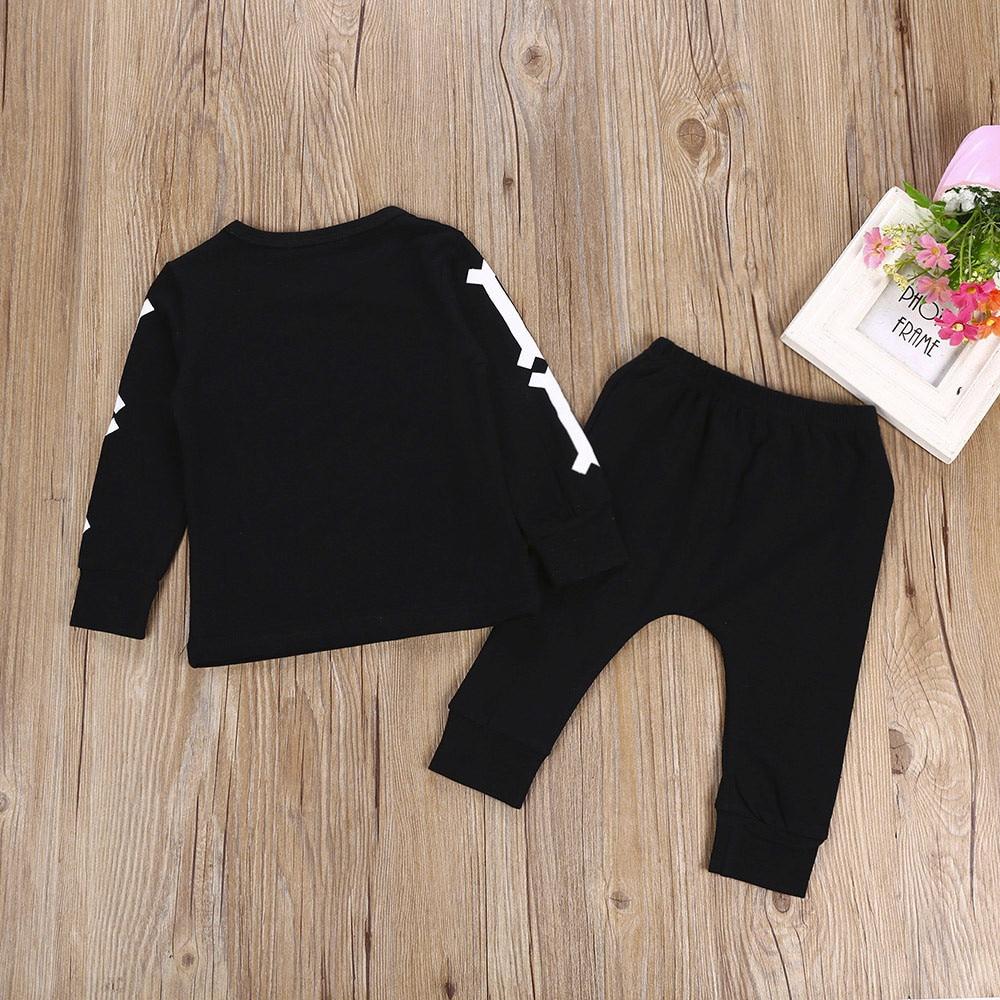 0cd5847e9 Baby Girl Boy Clothes Set Bone Tops Long Sleeve T Shirts+Pants 2Pcs ...