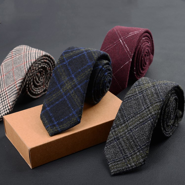 New Mans Wool Tie 6cm Skinny Slim Necktie Unique Luxury Burgundy Tie Gifts For Men  Festival Wedding Party Formal Dress