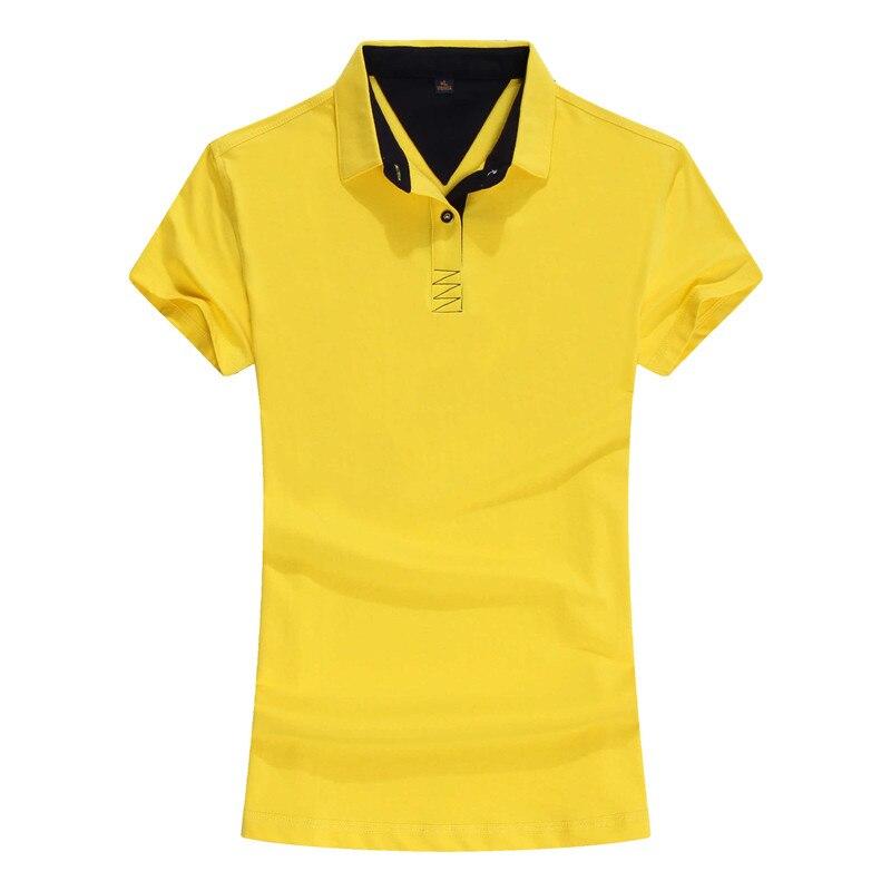2018 Mulheres novas do Polo de Algodão Camisa Pólo de Manga Curta Mulheres Camisa  Polo Feminina Plus Size Camisas Femininas Respirável Macio 039bf13eb69e6