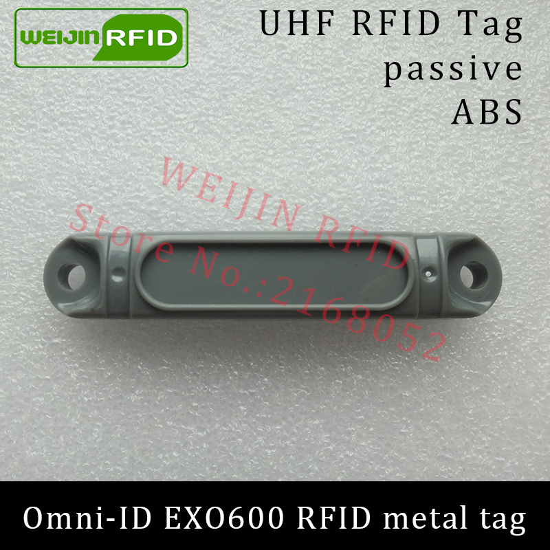 UHF RFID metal tag omni-ID EXO600 EXO600 915mhz 868mhz Impinj Monza4QT EPC C1G2 6C durable ABS smart card passive RFID tags uhf rfid metal tag 915mhz 868mhz impinj