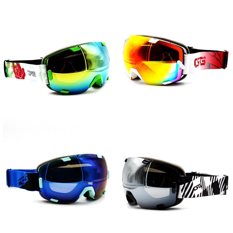 Prix pour 4 Couleurs Belle Marque Nouveau Ski Lunettes UV400 Anti-Buée Lunettes Masque Lunettes de Ski Hommes Femmes Neige Snowboard Lunettes