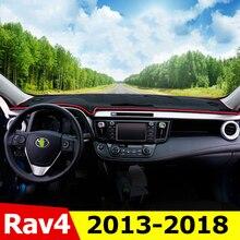 Car Dashboard Cover Mats Avoid Light Pad Instrument Platform Desk Carpet For Toyota RAV4 2013 2014 2015 2016 2017 2018 Accessory