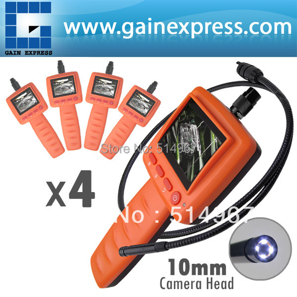 4 pieces x 2.4 LCD Portable Video Inspection Endoscope Borescope 10mm  Diameter Camera Head 1m Cable Snakescope ,lot of 4 explorer 8807al inspection camera boroscope 1m cable 4 5 mm 3 5 lcd recordable wireless inspection camera video borescope