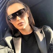 Sunglasses Flat Top Women Big Frame Sunglasses Fashion Super star Brand Designer Oversized Clear Gradient Sun
