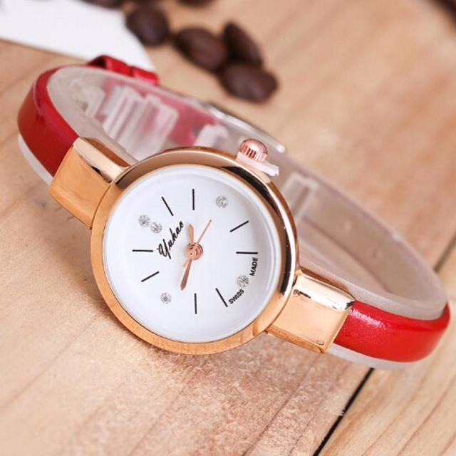 Women's Watches Minimalist Retro Woman Strap leather Wristwatches 2018 new Quartz Watch Travel Souvenir Birthday Gifts