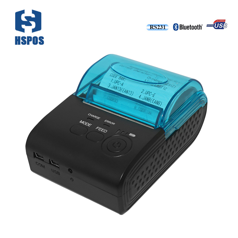2 inch pos portable mobile printer HS-590AI usb rs232 port bluetooth android and ios thermal receipt printer provide SDK pos 58mm bluetooth thermal mobile printer hs e20uai portable pocket receipt printer support android and ios appy to pos systems