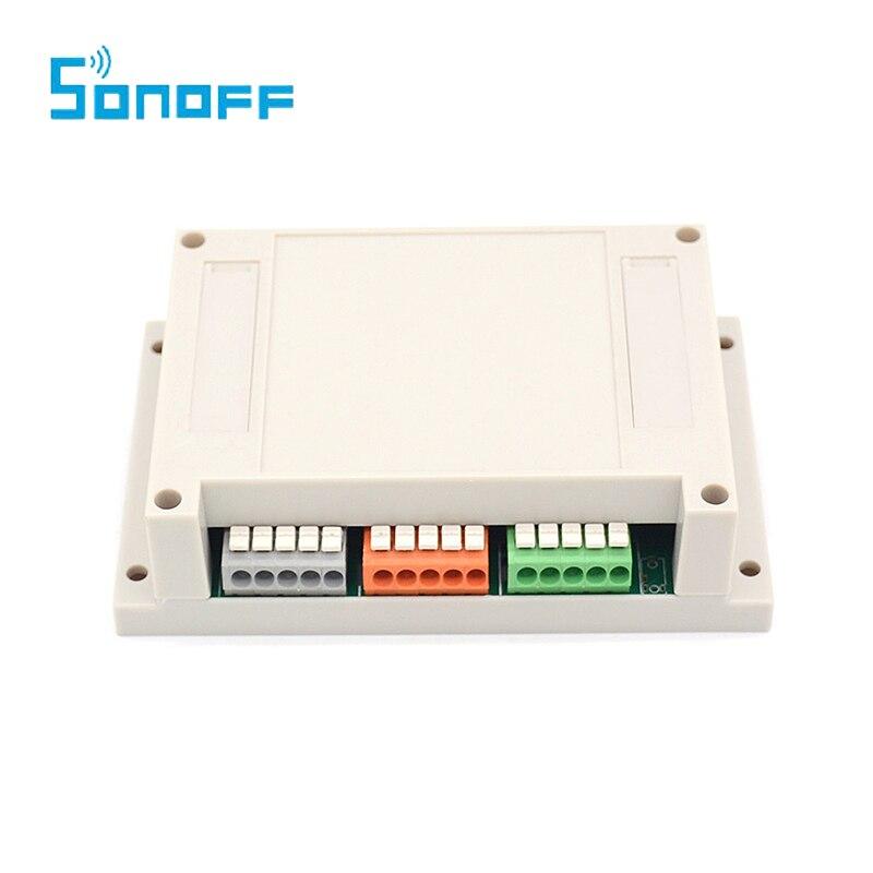 imágenes para WIFI Smart Switch Sonoff 4CH 4-Gang 4 way wireless Interruptores de Montaje En Carril Din Domótica encendido/apagado a distancia 10A/2200 W