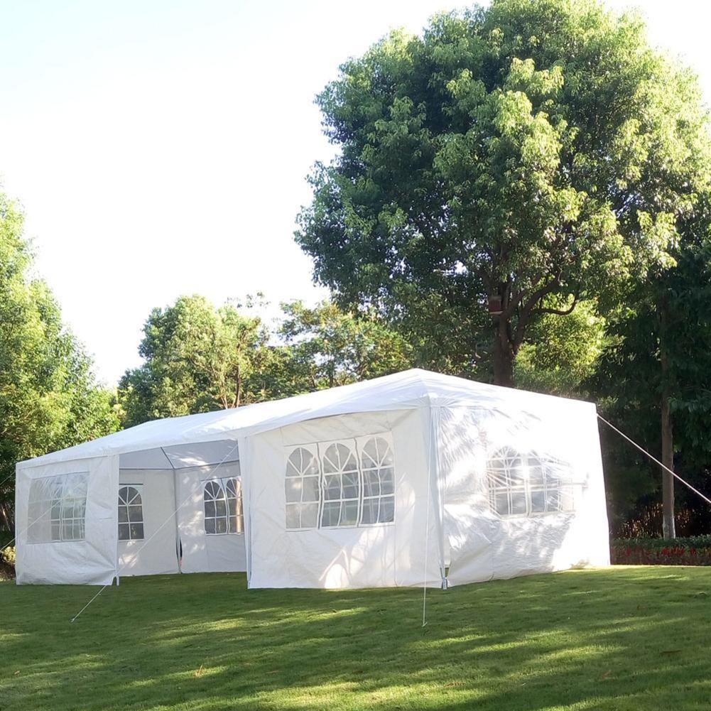 3X9 m grande tente de Camping imperméable PE tissu famille fête tentes avec Tube en spirale Camping randonnée tente extérieure