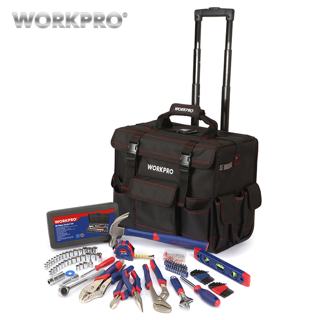 Workpro 176pc Home Tool Set High Quality Bag Travel Trolley With Hand Tools