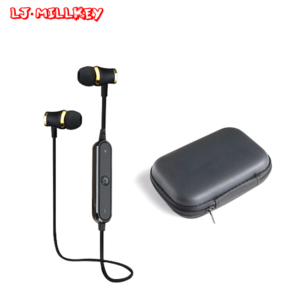 S6 Bluetooth Headset Athlete Wireless Earphone BT4.1 Sports Stereo Earbuds with HD Mic for  Smartphones LJ-MILLKEY SNH001 3 colors athlete bluetooth headset wireless headphones sports running stereo earphone with microphone original box