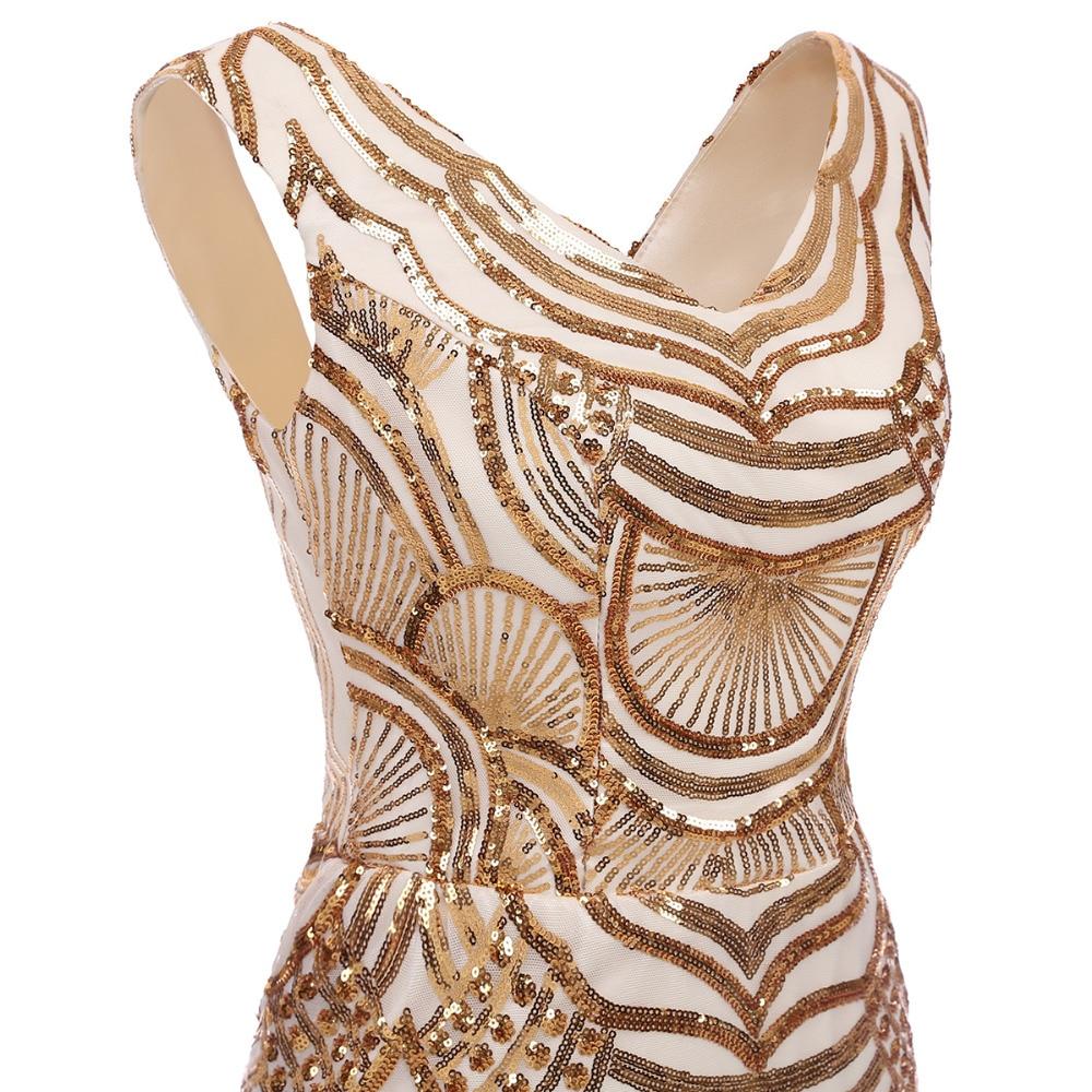 Mermaid Evening Dresses V Neck Party Gown Elegant Long Gown Formal - Gaun acara khas - Foto 4