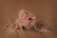 100 Lace Stretch Wrap Blanket For Newborn Photography Lace Wrap With Mathching Hat Photography Props