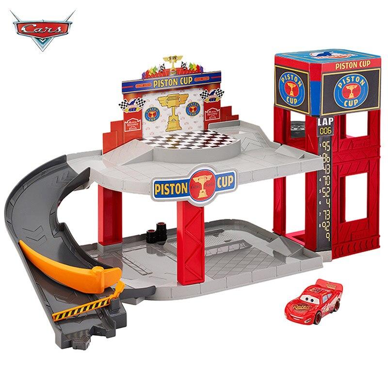 Jouet voiture Piston tasse Orbital Emboitement costume Parking Garage foudre garçons voitures jouets enfants jouets cadeau d'anniversaire