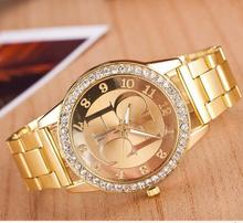 2016 hot new famous Top luxury brand watches women Full Steel Rhinestone Quartz-watch casual women wristwatch relojes mujer
