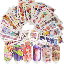 24 Sheets Set Nail Art Decoration Stickers Butterfly Dreamcatcher Animals Mixed Design Watermark Tip Tool Manicure