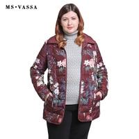 MS VASSA Women Jackets 2018 New Autumn Winter Ladies Reversible Jacket Plus Size 5XL 6XL Turn
