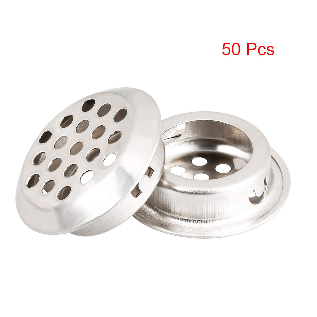 Uxcell New 50pcs Air Vent Extract Valve Grille Round Diffuser Ducting Ventilation Cover Air Vent Ventilator 19mm 35mm Bottom Dia