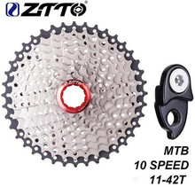 ZTTO 10 Speed Cassette MTB Bicycle Freewheel 11-42T Mountain Bike Bicycle Cassette Sprockets for Parts m590 m6000 m610 m675 m780 ztto 11 40 t 10 speed wide ratio mtb mountain bike bicycle cassette sprockets for parts m590 m6000 m610 m675 m780 x5 x7 x9