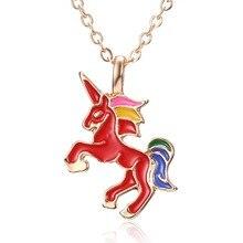 Necklace with Enamel Unicorn Pendant