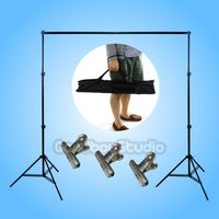 Studio 2x2m / 200x200cm Aluminum Photography Photo Backdrops Background Support System Stands + Carry Bag