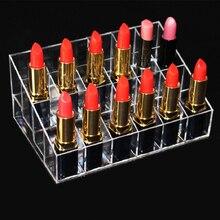 24 Grid Lipstick Storage Box Jewelry Stand Chic Acrylic Makeup Organizer Storage Nail Polish Case Holder Display Rack