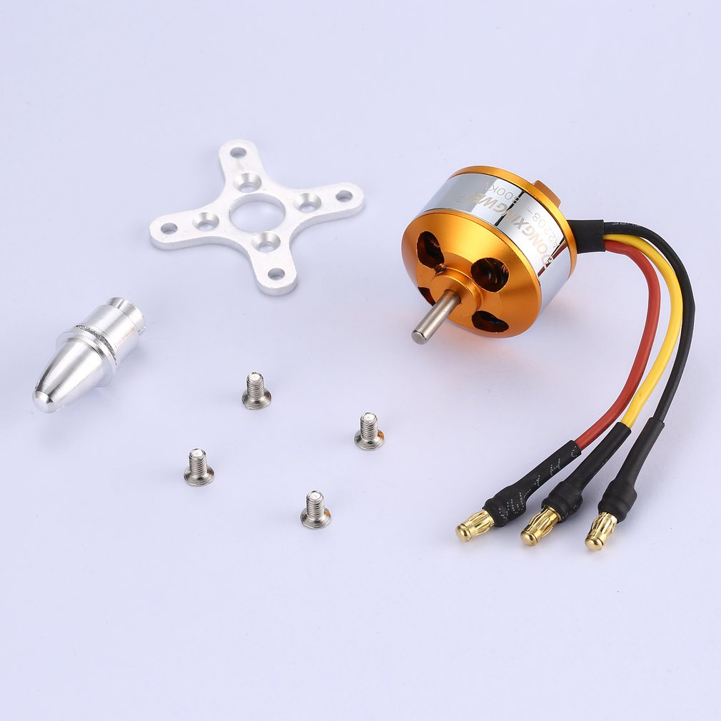 Image 2 - DXW A2208 Outrunner Brushless Motor 1100KV/1400KV 2 4S 1800KV/2600KV 2 3S Drone Motor RC Fixed Wing Drone Propeller-in Parts & Accessories from Toys & Hobbies
