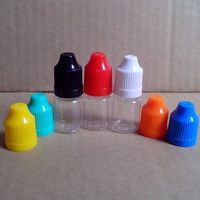 High 5ml Clear Bottle PET Plastic Dropper Bottle with Colorful Childproof Cap for E Liquid Empty Bottle 100pcs Free Shipping