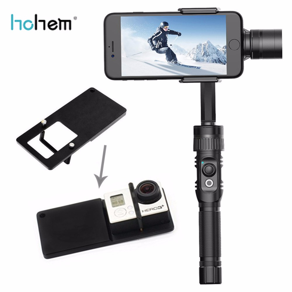 Hohem BUFF 3 Axis Handheld Gimbal Stabilizer for action camera phone iphone Gopro SJCAM xiaomi yi