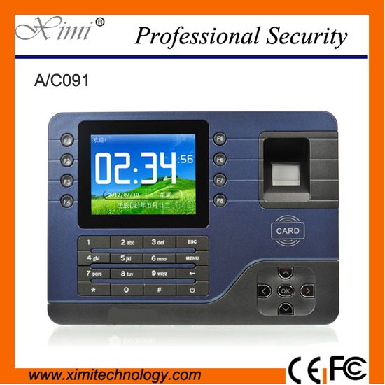Realand TCP/IP Biometric Fingerprint Time Attendance  RFID card   Employee Electronic English Punch Reader Machine A-C091 tcp ip fingerprint time attendance color screen 2000 user time attendance fingerprint password rfid card time atteendance