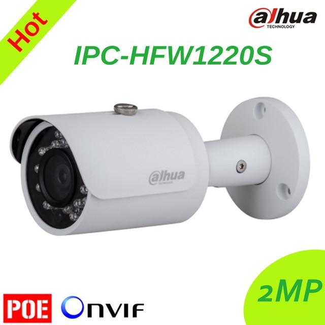 Бесплатная доставка Dahua ipc-hfw1220s ИК HD 1080 P IP Камера безопасности Открытый 2mp сети пули ИК Мини-Камера Поддержка POE dh-ipc-hfw1220s