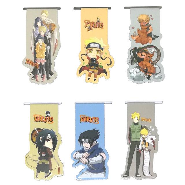 Naruto Marcapáginas Imanes (6 piezas/set)