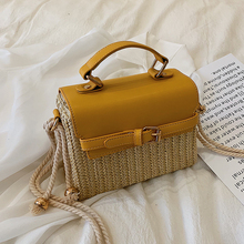 Elegant Female Tote bag 2019 Summer New High Quality Straw Women's Designer Handbag Travel Shoulder Messenger bag Bolsos Mujer
