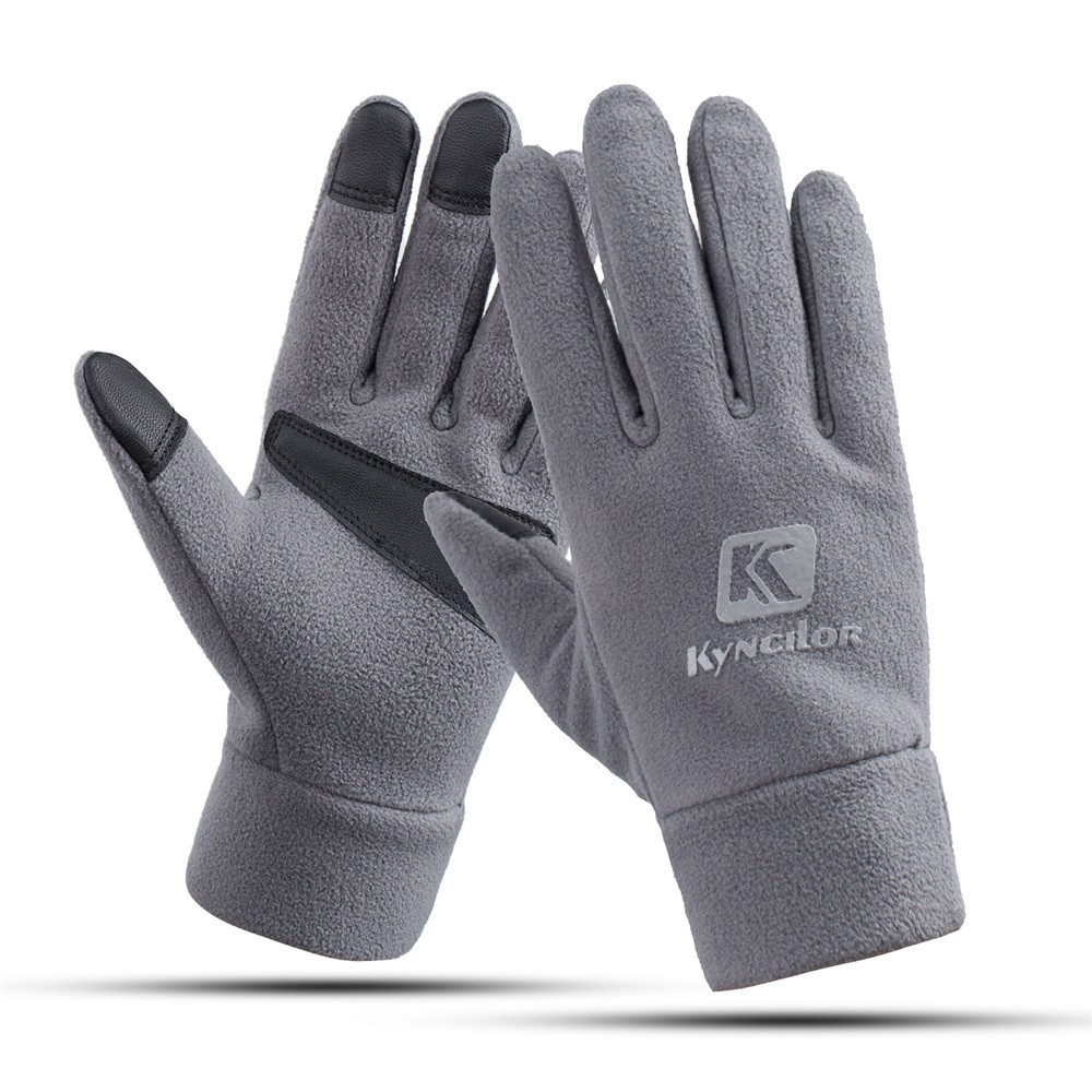 Unisex Men's and Women's Fashion Winter Warm Gloves Fleece Windproof Slip Sports Gloves Outdoor Riding Gloves Touch Screen