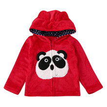 winter Clothes Baby Infant Kids Boys Girls Cartoon panda Animal Hooded Coat Cloak Tops Warm kids Clothes free delivery