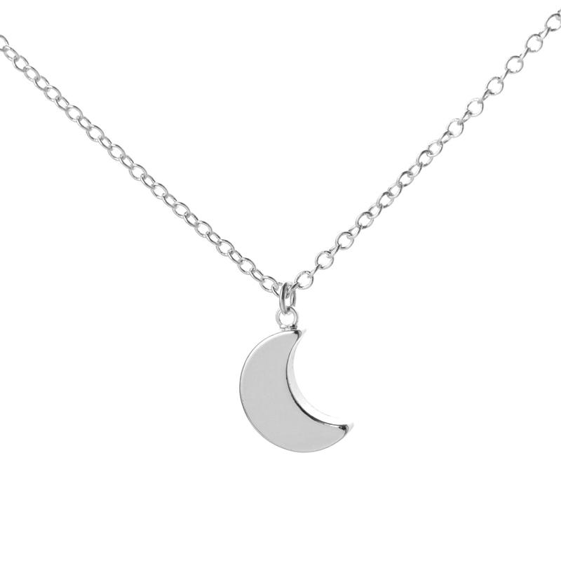 15817257b9d43 US $12.6 9% OFF|SMJEL Wholesale New Choker Necklaces Minimalist Crescent  Moon Long Necklace Half Moon Shape Necklace for Women 10pcs N187-in Pendant  ...