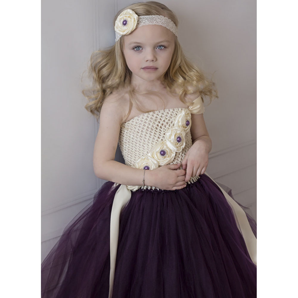 Ivory eggplant purple flower girl tutu dress baby girls photo prop ivory eggplant purple flower girl tutu dress baby girls photo prop wedding stunning dresses for bridesmaid pageant any occasions in dresses from mother ombrellifo Images