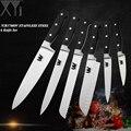 XYj высокомасштабный набор кухонных ножей из Германии 7cr17mov ультра острое лезвие, поварской нож 58 HRC нож для готовки Resturant хорошие инструменты
