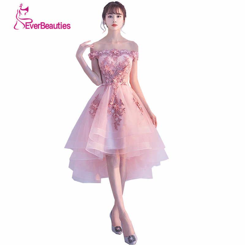 Элегантное короткое вечернее платье из тюля с кружевами, расшитое блестками, Новые Вечерние платья для выпускного вечера, праздничные платья для невесты, Robe De Soiree
