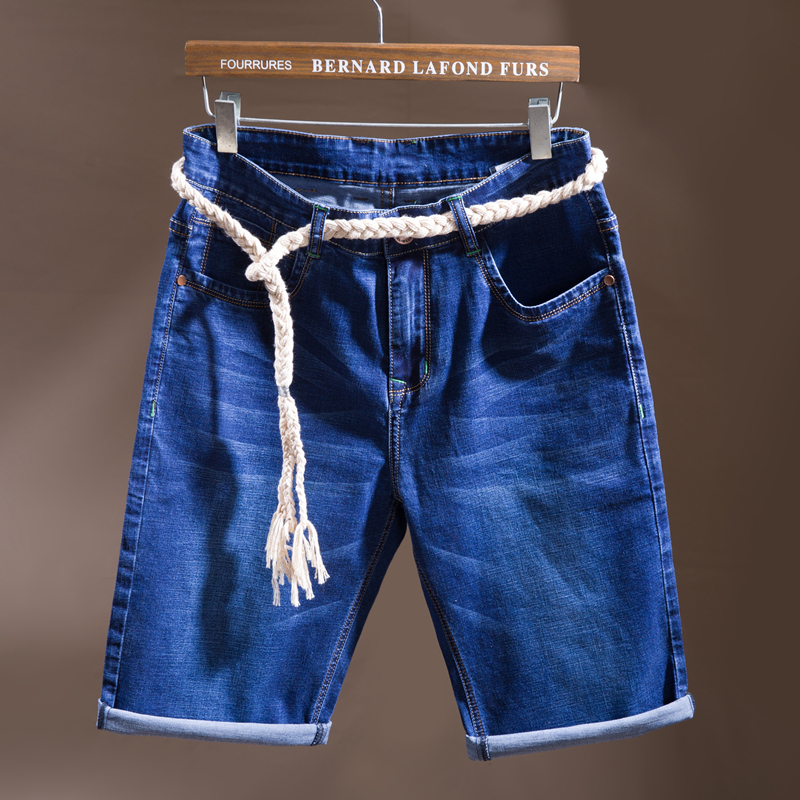 SULEE Brand  New Summer Denim Cotton Shorts Stretch Casual Jeans Men's Clothing Man Short Large Size