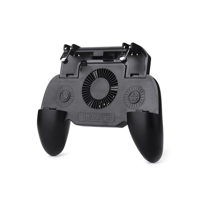 For SR Mobile Gaming GamePad Cooler Cooling Fan Fire PUBG Game Controller Gamepad Joystick Metal L1 R1 Trigger