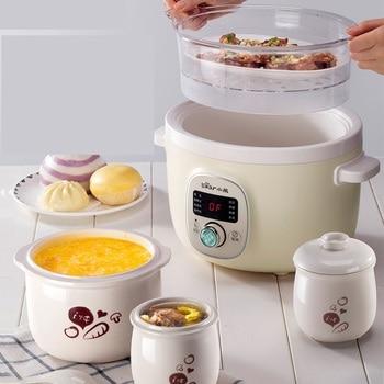 Automatic Household 220V Electric Stewing Pot Multi Cooker EU/AU/UK Baby Porridge Cooker High Quality Ceramic Pot Kitchen Tool 3