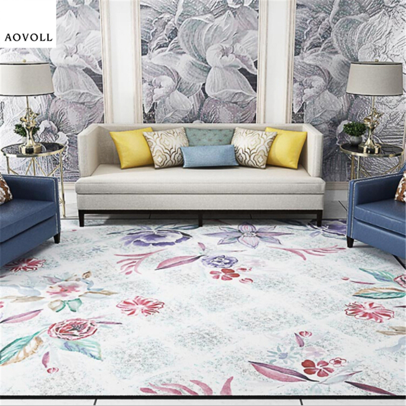 AOVOLL Soft Large Carpets For Living Room Bedroom Kid Room Rugs Hot Sale Fashiong Delicate Home Carpet Floor Door Mat Area Rug