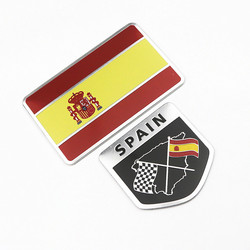 Adesivo de emblema para bandeiras, emblema de liga de alumínio para carros, adesivos 3d para motocicletas e automóveis