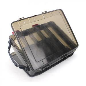 Image 4 - 20 x 17 x 5cm Double Side 10 Compartments Fishing Tackle Box Multi function Portable  with Air Hole for  Lures Storage